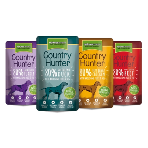 Natures Menu Country Hunter Superfood Selection Dog Pouches, 12x150g