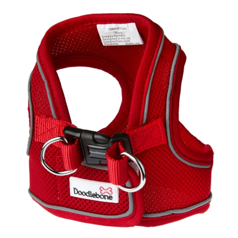 Doodlebone Airmesh Snappy Dog Harness - Red