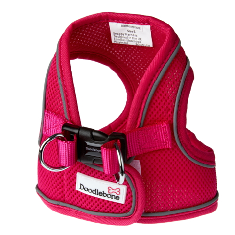 Doodlebone Airmesh Snappy Dog Harness - Neon Pink