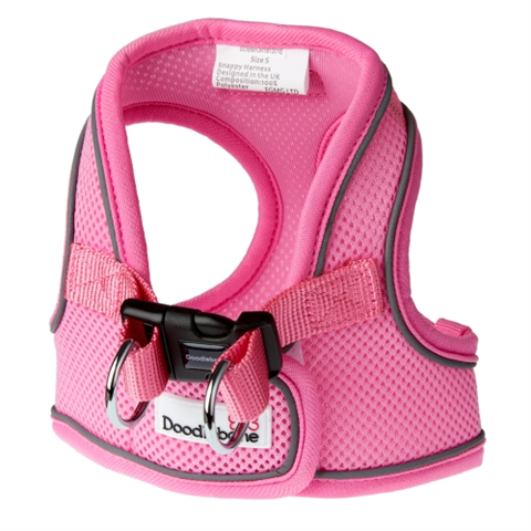 Doodlebone Airmesh Snappy Dog Harness - Pink