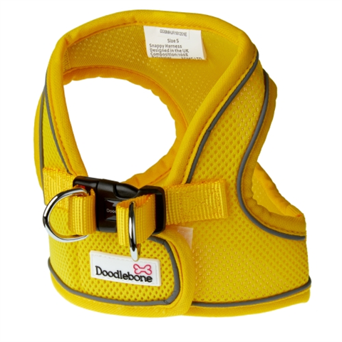 Doodlebone Airmesh Snappy Dog Harness - Yellow
