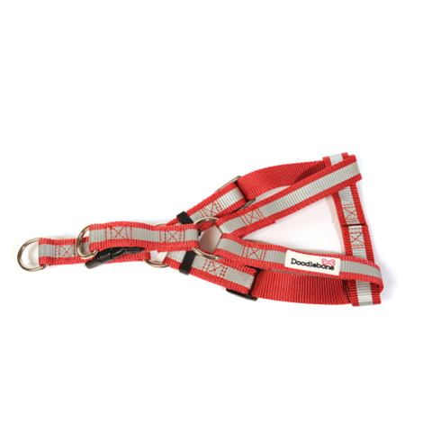 Doodlebone Bold Reflective Harness - Red