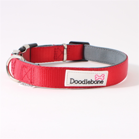 Doodlebone Bold Padded Collar - Red