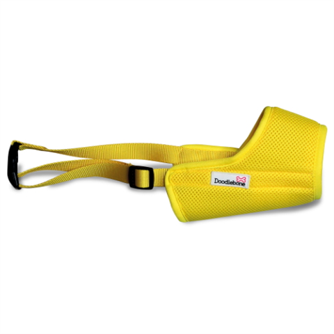 Doodlebone Airmesh Muzzle - Yellow