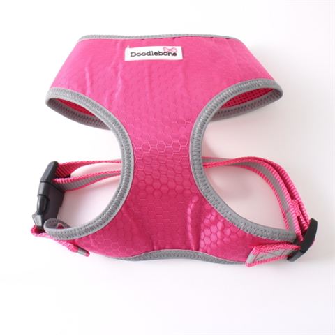 Doodlebone Toughie Dog Harness - Neon Pink