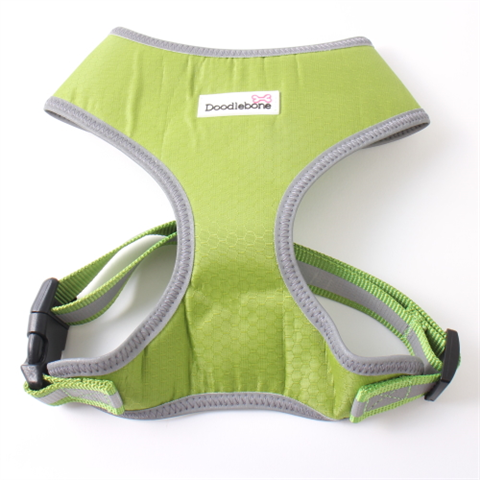 Doodlebone Toughie Dog Harness - Apple Green