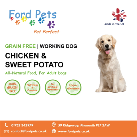Ford Pets Grain Free Chicken & Sweet Potato Dog Food