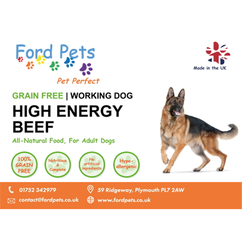 Ford Pets Grain Free High Energy Beef Dog Food