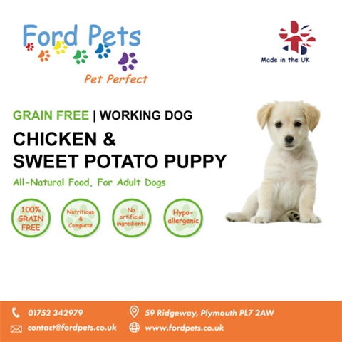 Ford Pets Grain Free Puppy Chicken & Sweet Potato Dog Food