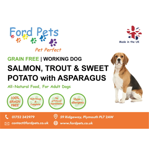 Ford Pets Grain Free Salmon, Trout, Sweet Potato & Asparagus Dog Food