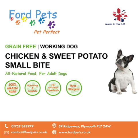 Ford Pets Grain Free Small Bite Chicken & Sweet Potato Dog Food