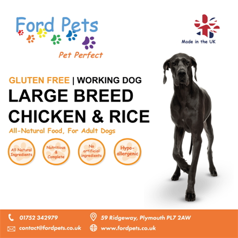 Ford Pets Premium Large Breed Chicken & Rice with Joint Care Dog Food