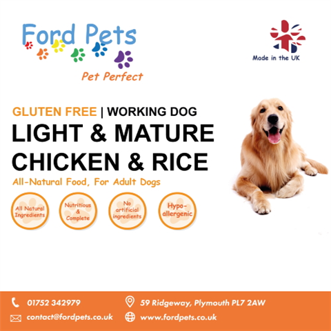 Ford Pets Premium Light & Mature Chicken & Rice Dog Food