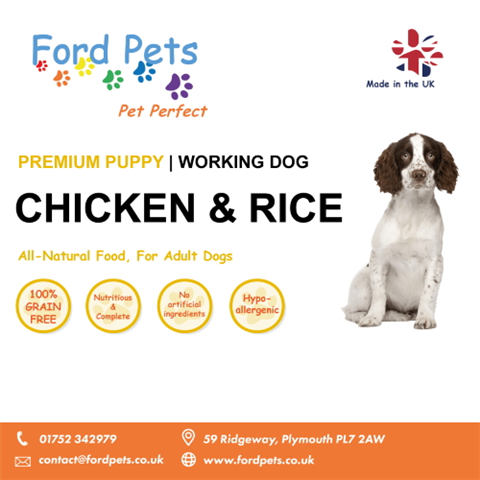 Ford Pets Premium Puppy Complete Chicken & Rice Dog Food