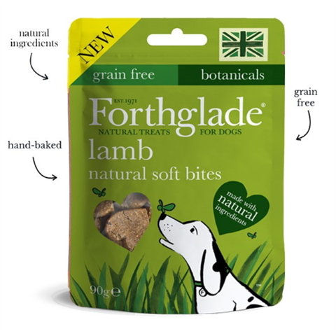 Forthglade Natural Soft Bite Treats With Lamb 90g