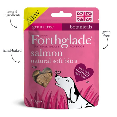 Forthglade Natural Soft Bite Treats With Salmon 90g