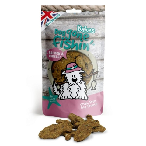 Dog Gone Fishin Salmon & Parsley Bakes 75g