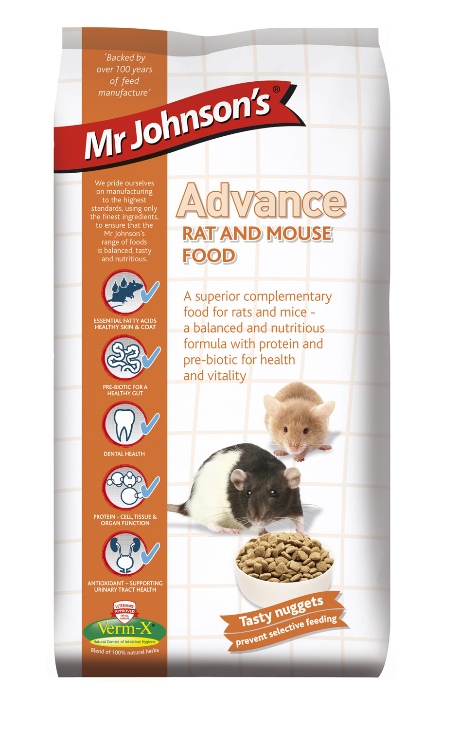 Mr Johnsons Advanced Rat & Mouse Food 750g