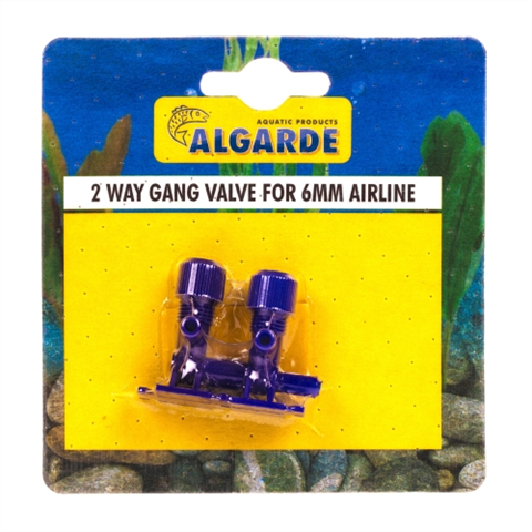 Algarde 2-Way Gang Valve 6mm Airline (x2)