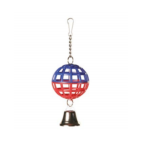 Trixie Lattice Ball With Chain And Bell, 7cm